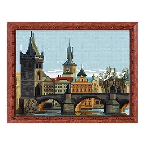 0170 Набор для вышивания Nitex 'Прага, полдень', 19х25 см