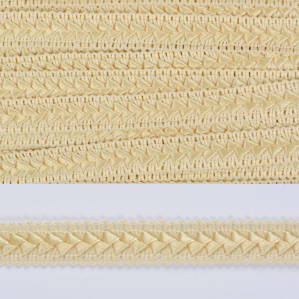 Тесьма TBY декоративная Самоса арт.46 (83) шир.18мм цв.молочный 83 (F105) уп.18,28м, ШМ46