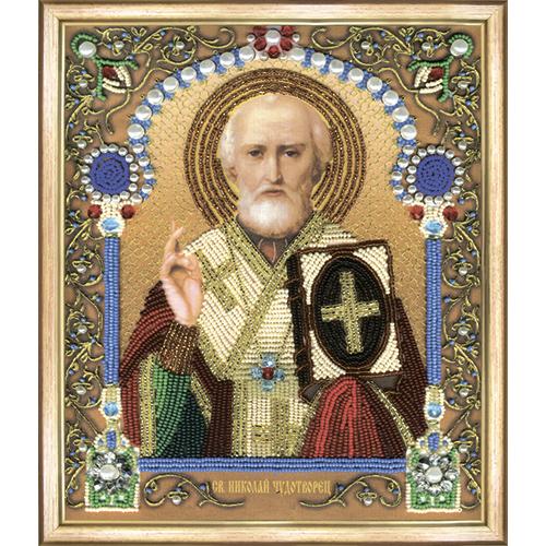 Б-1206 Набор для вышивания бисером 'Чарівна Мить' 'Икона святителя Николая Чудотворца', 20,5*24 см