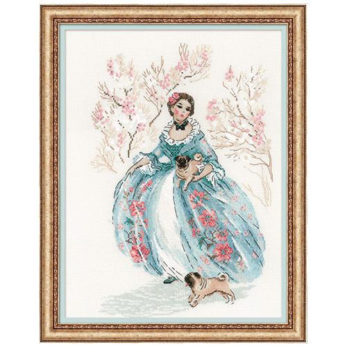1723 Набор для вышивания Риолис 'Рококо. Прогулка' 25*33 см