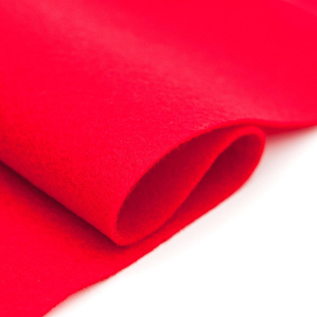 61212664 Фетр для творчества, красный, 2мм, 20x30см, уп./1шт. Glorex