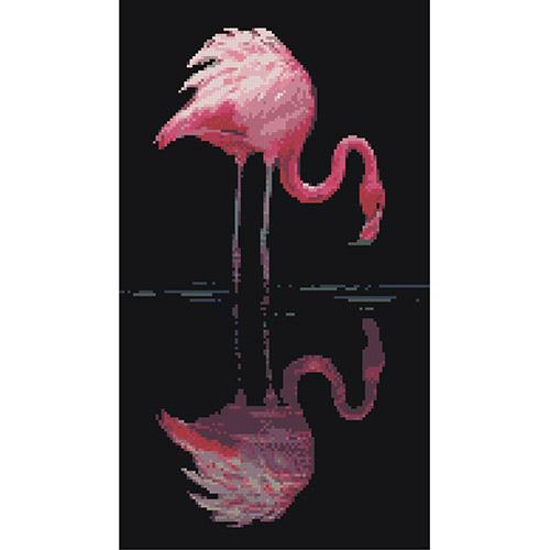 0020 Набор для вышивания Nitex 'Фламинго', 22х39 см