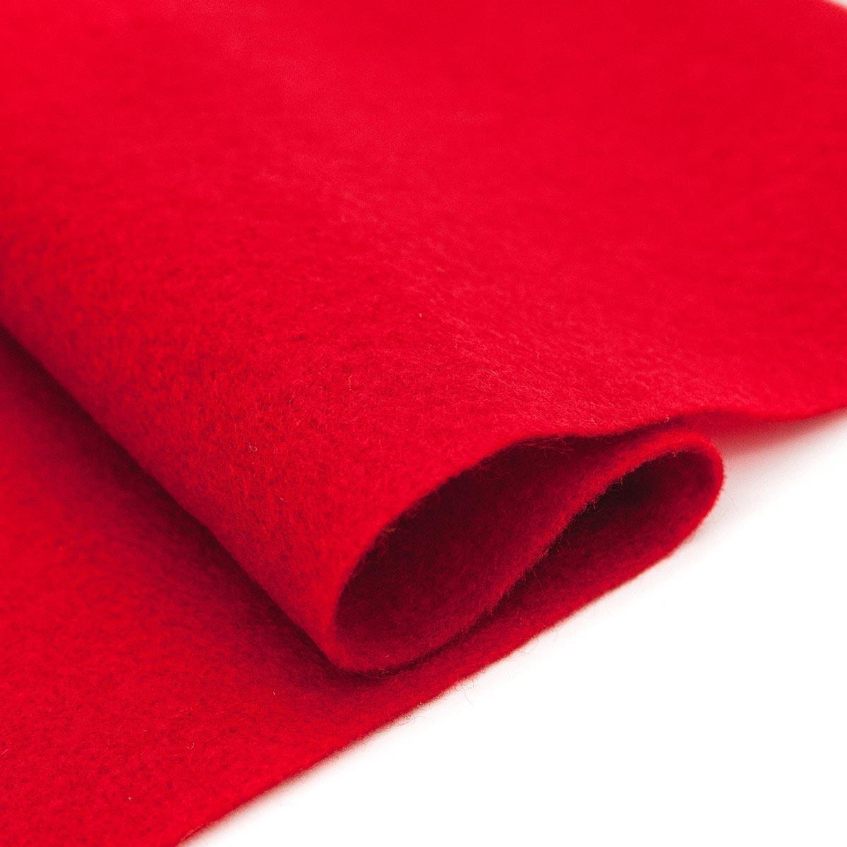 61212665 Фетр для творчества, темно-красный, 2мм, 20x30см, уп./1шт. Glorex