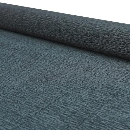 64565 Бумага гофрированная простая, 50см*2,5м 140гр 902 чёрная