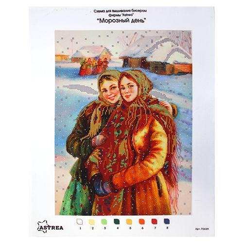75429 Канва с рисунком Gluriya 'Морозный день'