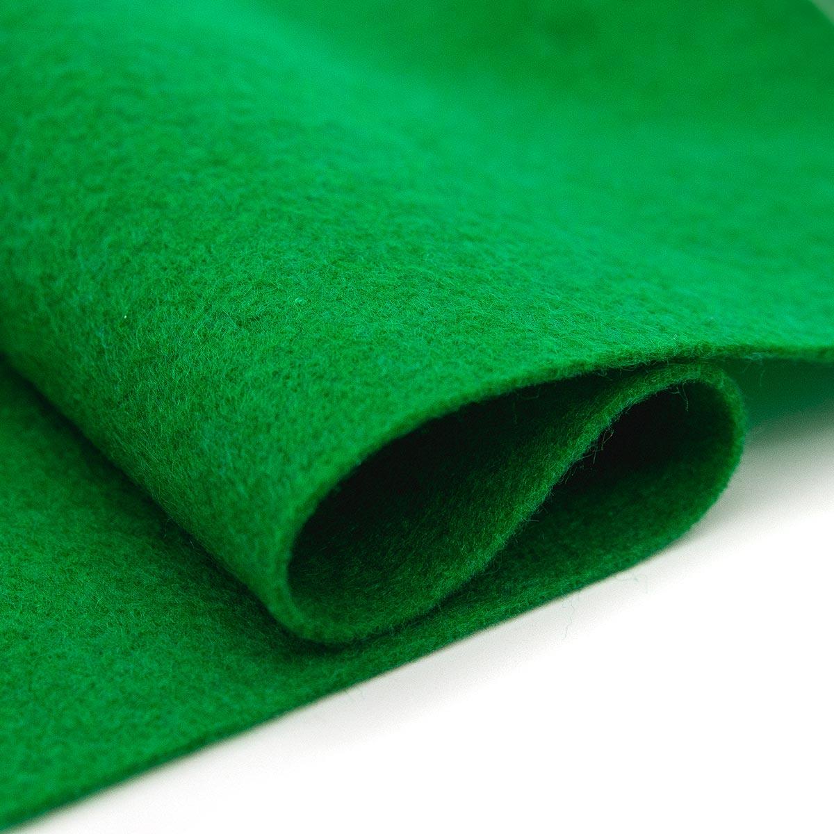 61212631 Фетр для творчества, зеленый, 2мм, 20x30см, уп./1шт. Glorex