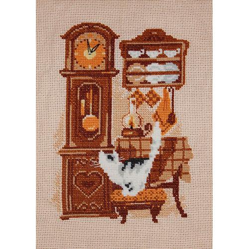 858 Набор для вышивания Riolis 'Часы', 18*24 см