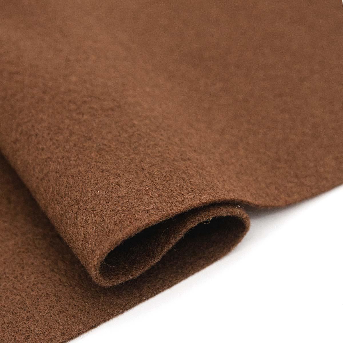 61212675 Фетр для творчества, коричневый, 2мм, 20x30см, уп./1шт. Glorex