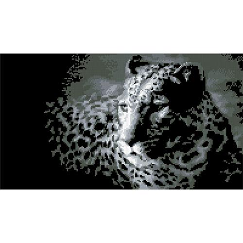 0036 Набор для вышивания Nitex 'Леопард', 36х20 см