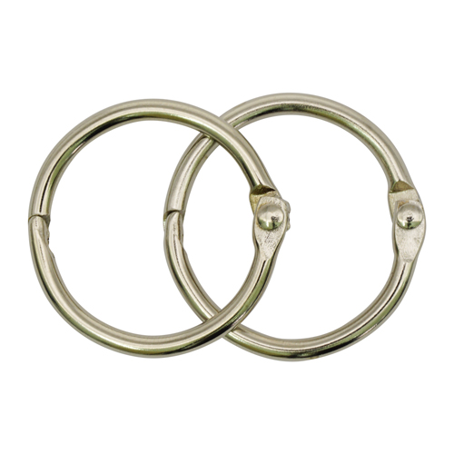 R123 Кольца металл 25мм 2шт/упак