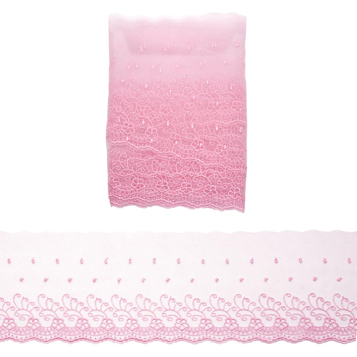 Кружево капрон 12,7см*3,4 м (+/- 4 см) 0574-5002, А549 розовый
