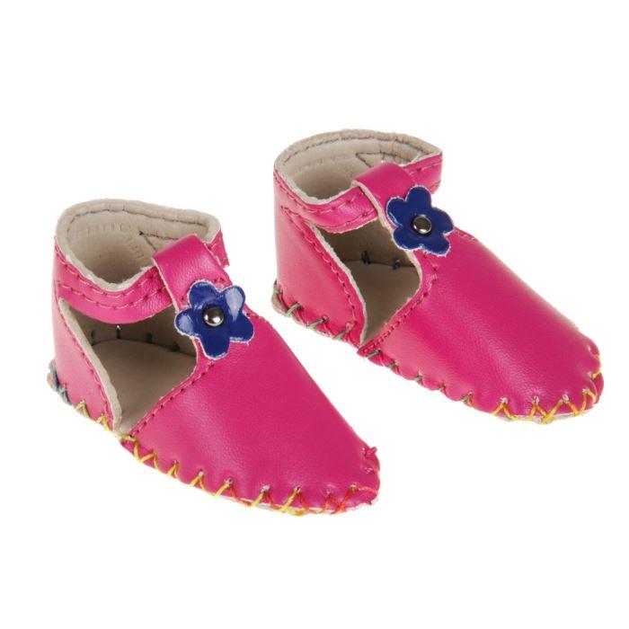 2331160 Сандали для куклы 'Цветочек', длина стопы 7,5 см, 1 пара, цвет розовый