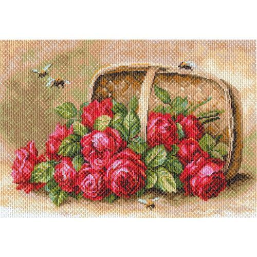 1704 Канва с рисунком 'Матренин Посад' 'Знойные розы', 37*49 см