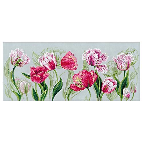 100/052 Набор для вышивания Riolis 'Весенние тюльпаны', 70*30 см