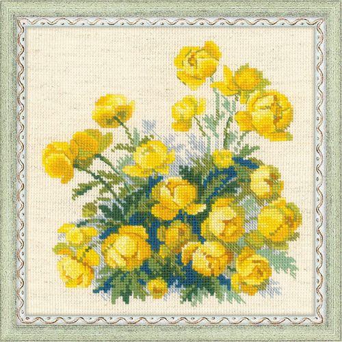 1515 Набор для вышивания Riolis 'Купавки', 20*20 см