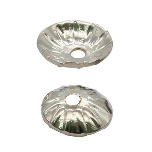 1514835 (СМ-079) Шапочки для бусин, серебро, 50шт/упак