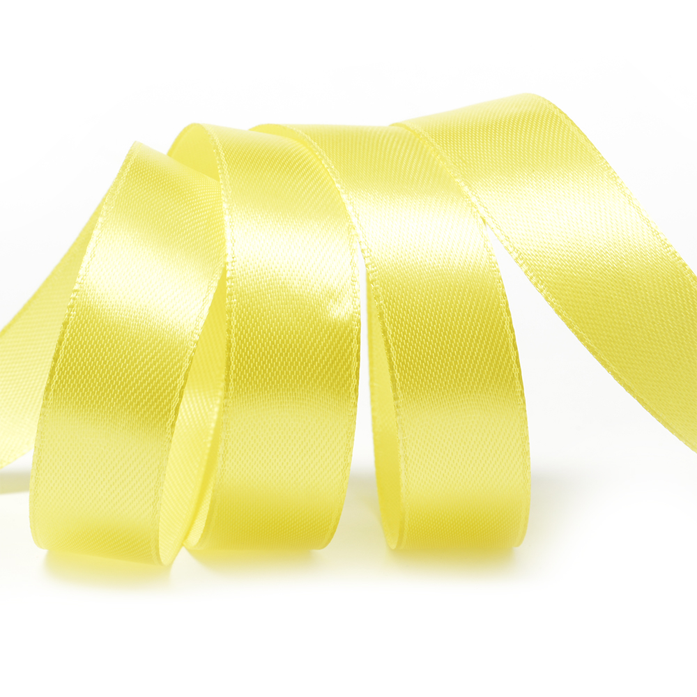 Лента атласная 3/4' (20мм) цв.3014 желтый IDEAL уп.27,4 м, 8ЛА20301430
