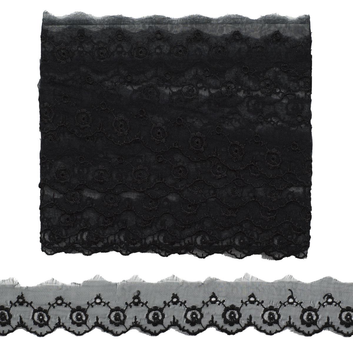 Кружево капрон 3,6см*6,8 м (+/- 4 см) 0574-1019, черный