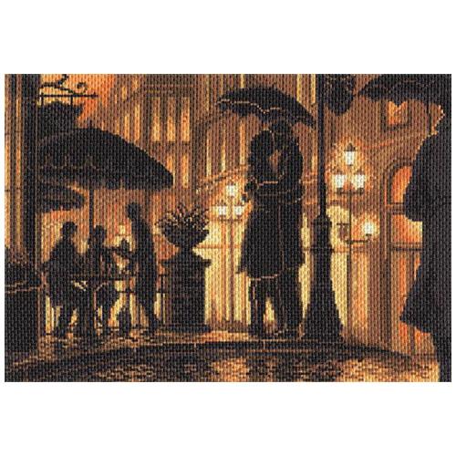 1685 Канва с рисунком 'Матренин Посад' 'Ночное кафе', 37*49 см