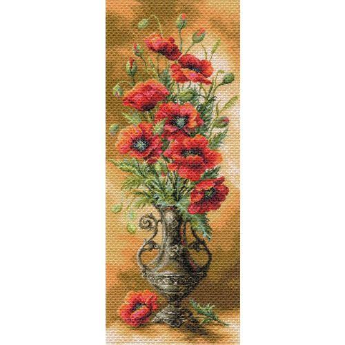 1706 Канва с рисунком Матренин посад 'Пылающие маки' 40*90см