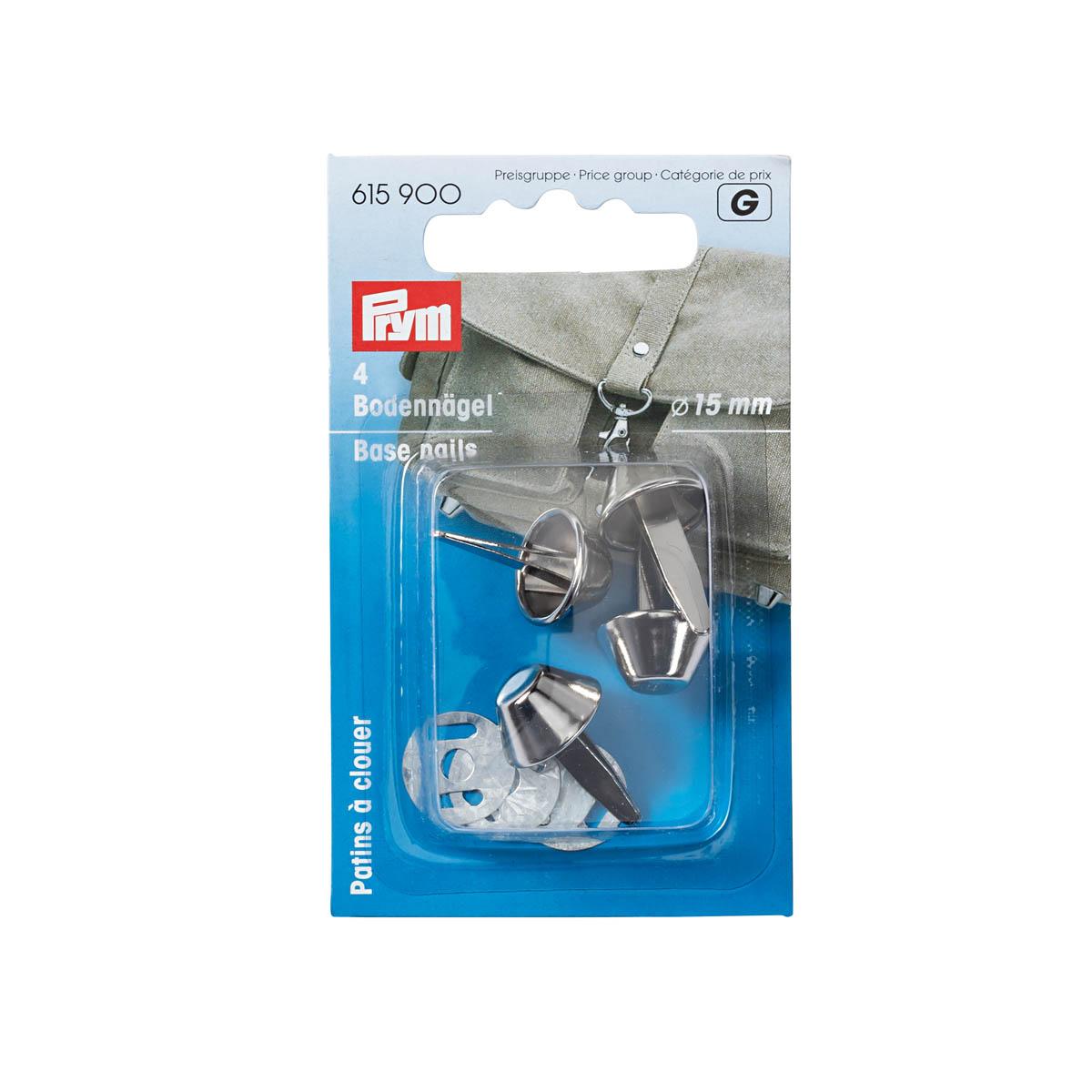 615900 Гвоздики для дна сумки, серебристый, d 15 мм, упак./4 шт., Prym