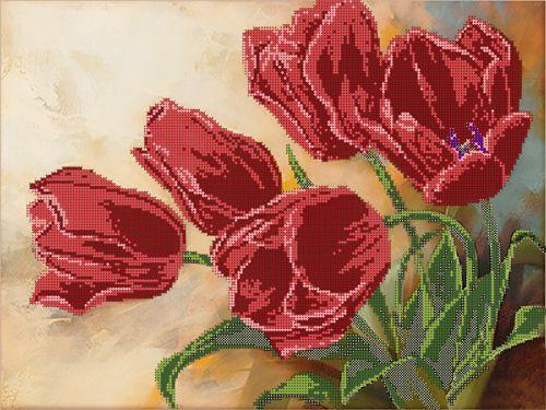 50086 Набор для вышивания бисером Astrea 'Тюльпаны', 40х30 см