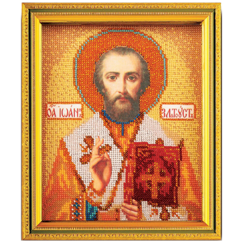 В347 Набор для вышивания бисером Кроше 'Св. Иоан Златоуст'12х14,5 см