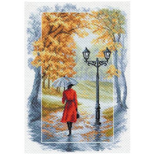 1675 Канва с рисунком 'Матренин Посад' 'Соло под дождем', 37*49 см