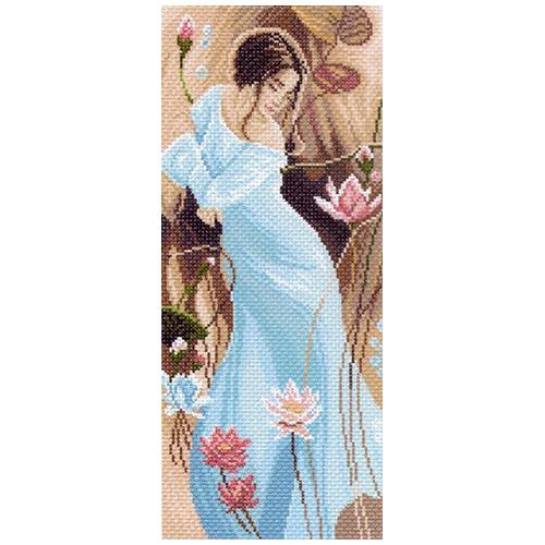 1051 Канва с рисунком 'Матренин посад' 'Романтика', 24*47 см