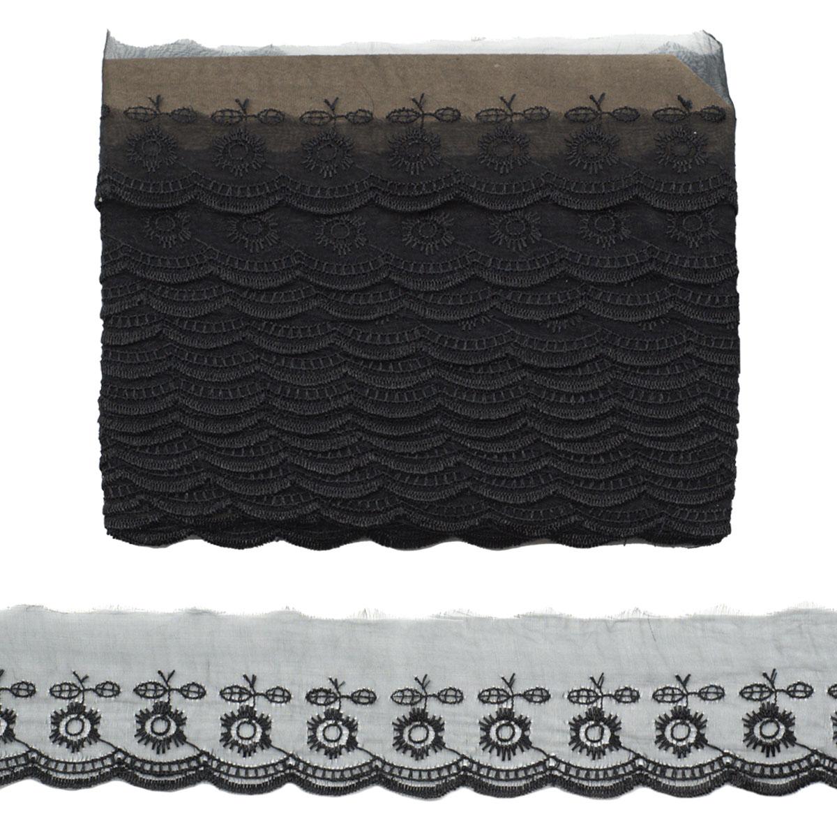 Кружево капрон 5,3см*6,8 м (+/- 4 см) 0574-2013, черный