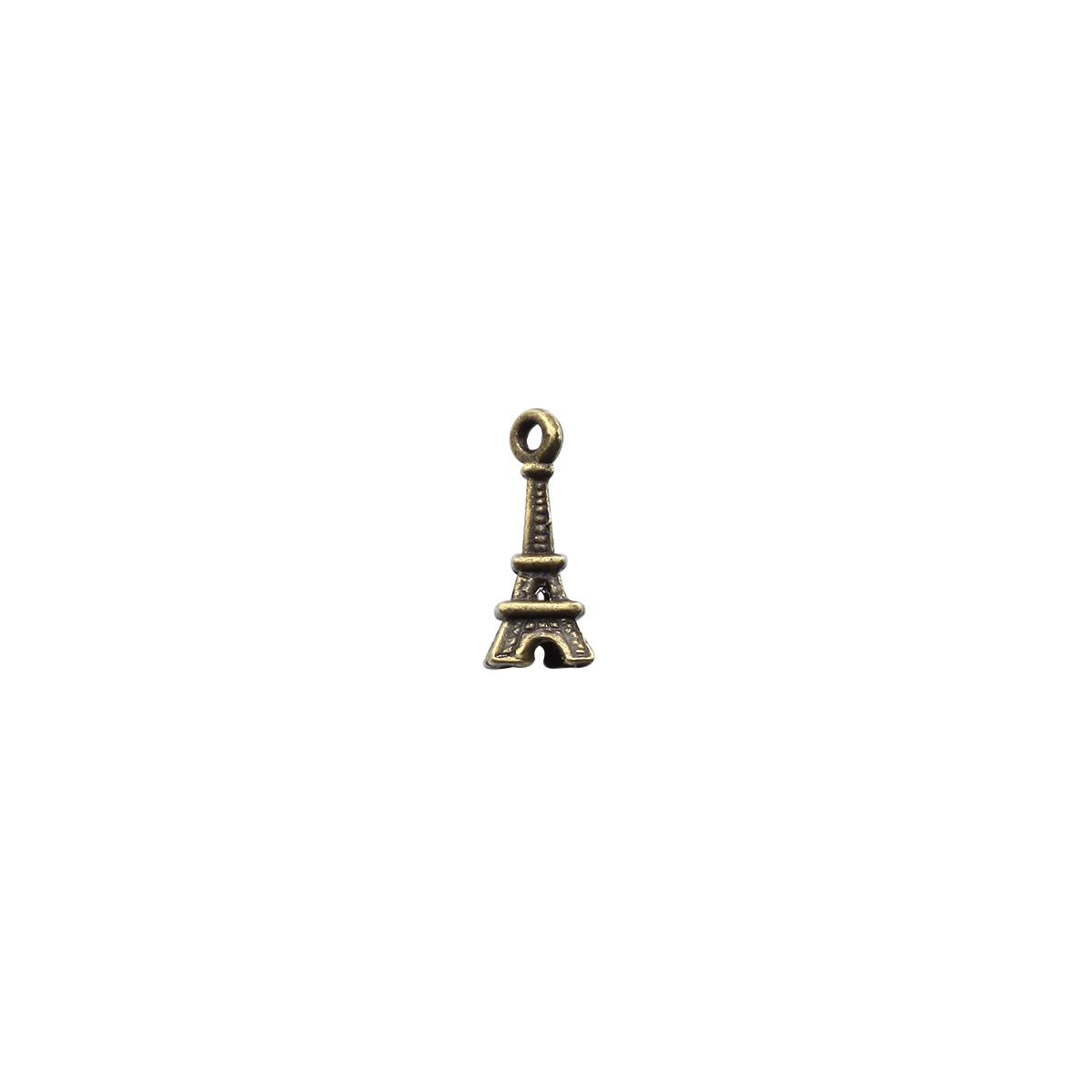 4AR027 Подвеска металлическая эйфелева башня бронза,2шт/упак, Астра