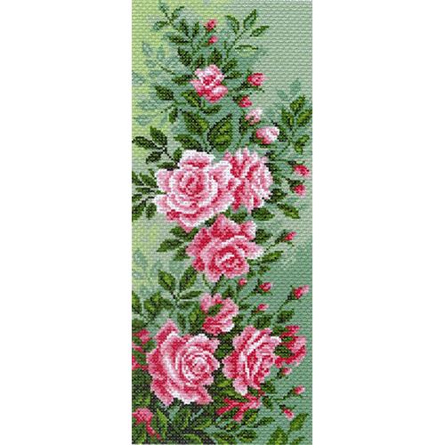 1053 Канва с рисунком 'Матренин посад' 'Плетистая роза', 24*47 см