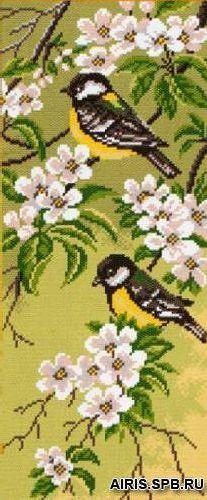 1054 Канва с рисунком 'Матренин посад' 'Весенний день', 24*47 см
