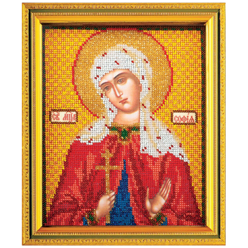 В354 Набор для вышивания бисером Кроше 'Св. Софья'12х14,5 см
