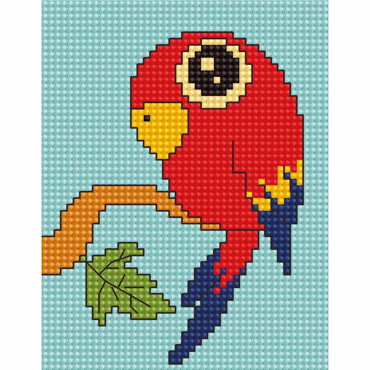 B083 Набор для вышивания 'Моя первая вышивка. Попугай' 8*10,5см, Luca-S