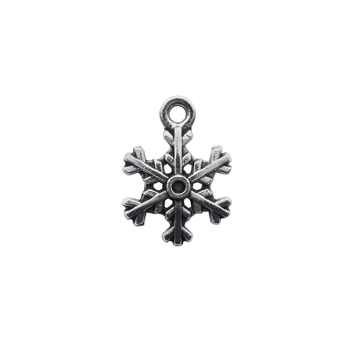 4AR030 Подвеска металлическая снежинка,2шт/упак, Астра