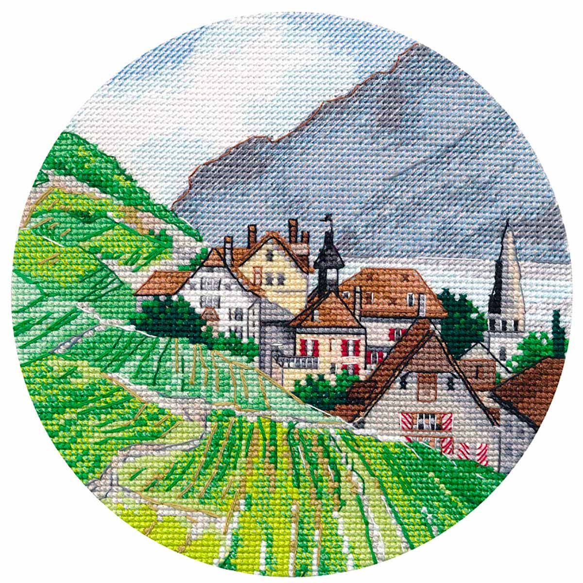 1286 Набор для вышивания ОВЕН 'Миниатюра. Альпы'15*15см