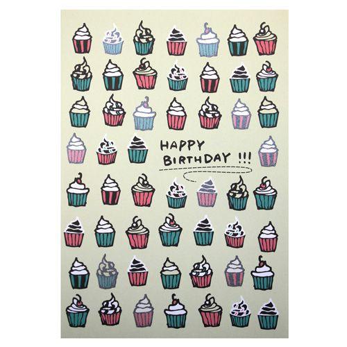 LTA05 Поздравительная открытка 'Happy Birthday', 12*17 см.(конверт в комплекте)