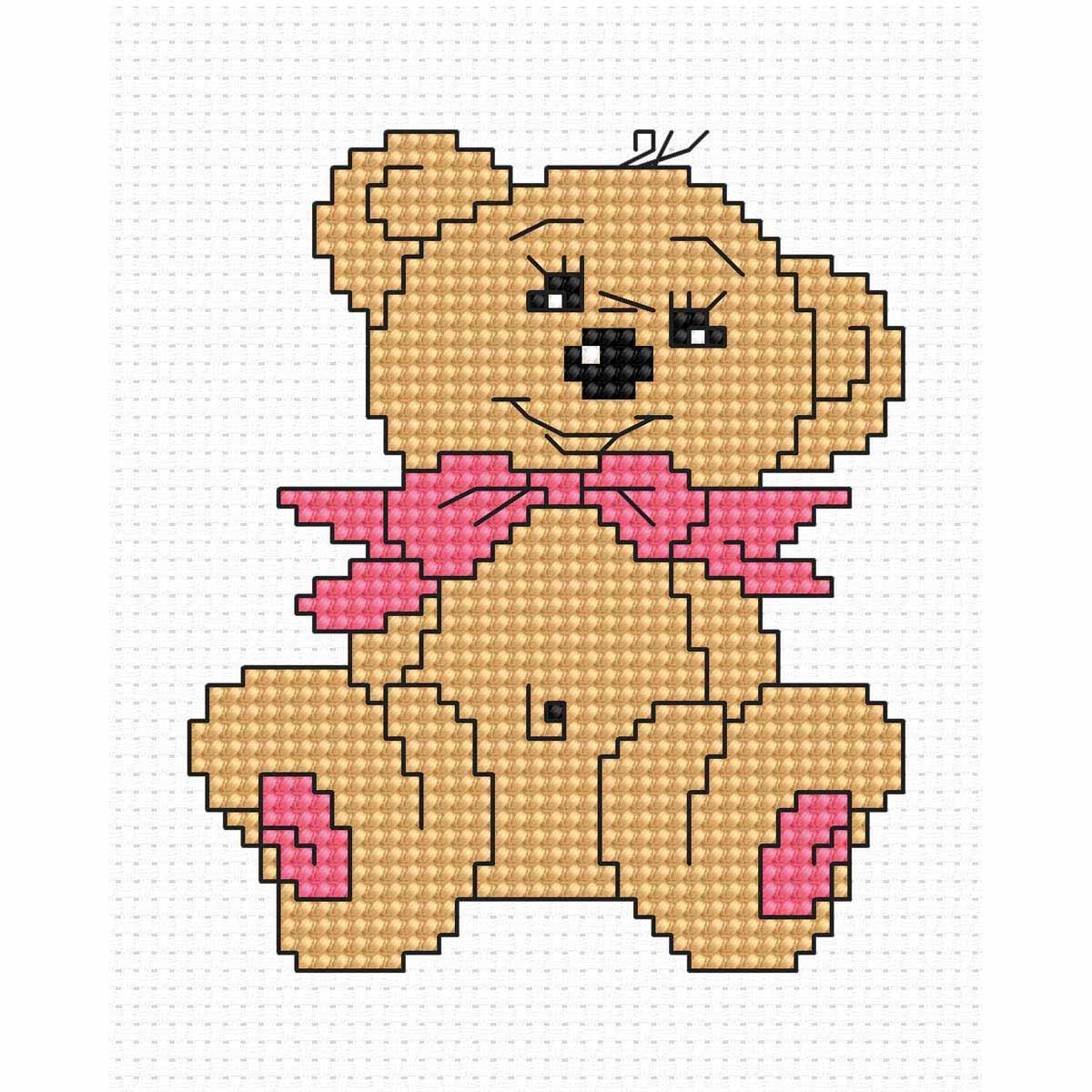 B087 Набор для вышивания 'Моя первая вышивка. Медвежонок' 7*8,5см, Luca-S
