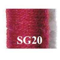mw-SG20-20g Нити вышивальные 100% шерсть 20г
