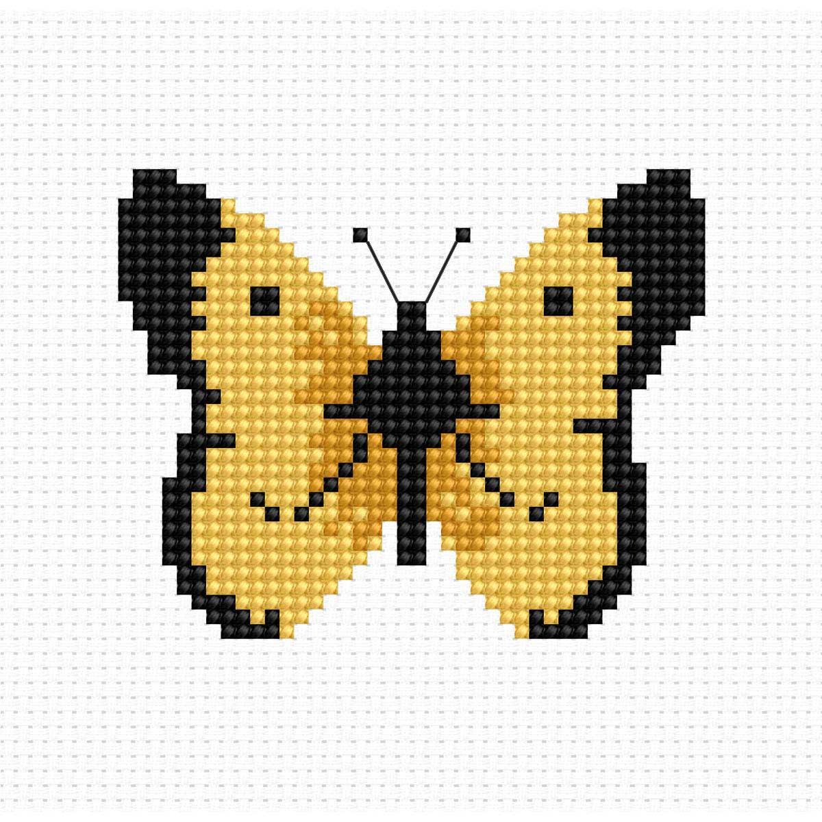 B004 Набор для вышивания 'Моя первая вышивка. Бабочка' 7*6см, Luca-S