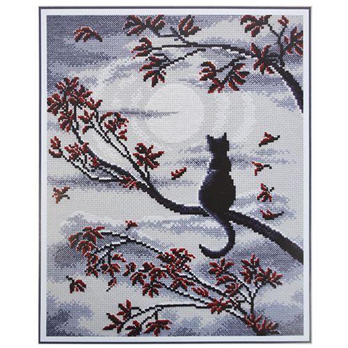 865 Набор для вышивания 'Овен' 'Лунный кот', 23*29 см