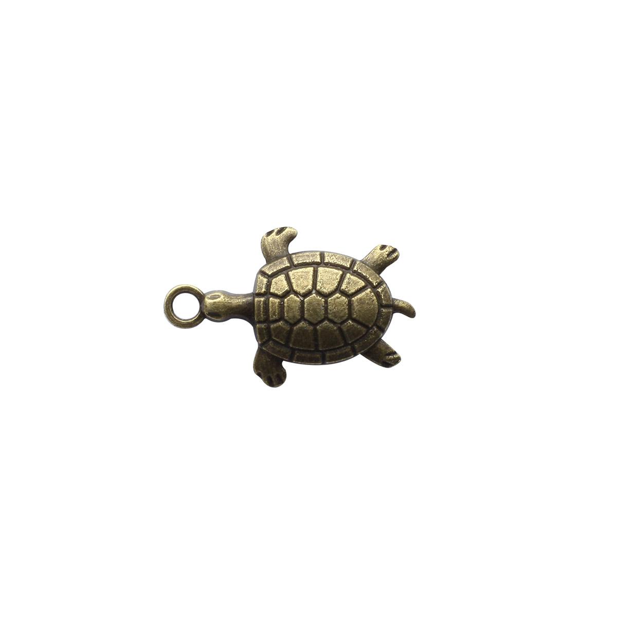 4AR036 Подвеска металлическая черепашка,2шт/упак, Астра