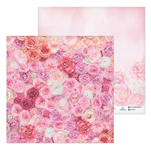 2655789 Бумага для скрапбукинга «Одеяло из роз», 30.5 ? 30.5 см, 180 г/м