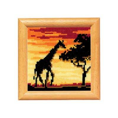 2002-40388 Набор для вышивания Vervaco 'Жираф' 8*8см