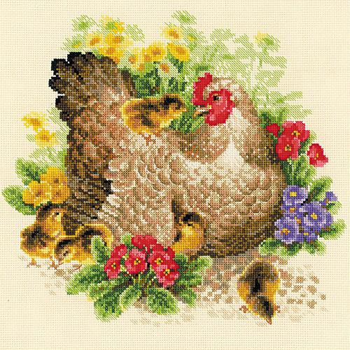 1480 Набор для вышивания Riolis 'Курица', 30*30 см