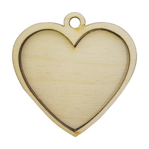 L-323 Деревянная заготовка медальон 'Сердечко', 6*6 см, 'Астра'