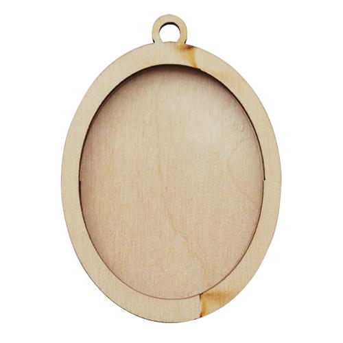 L-324 Деревянная заготовка медальон 'Овал', 6*5 см, 'Астра'