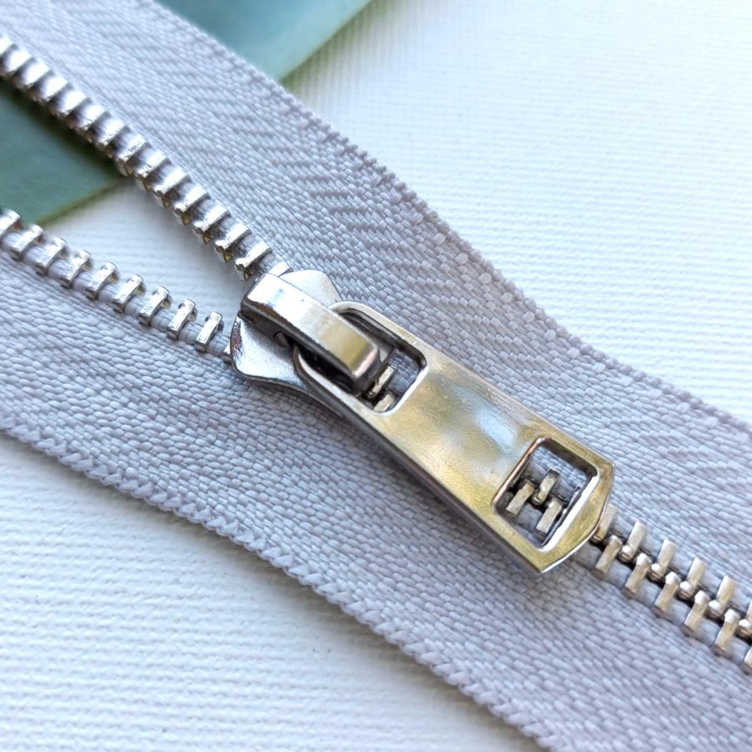 Молния металл №5ТТ никель разъём 65см D165 светло серый, 2002001722767