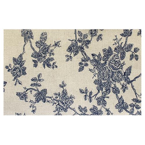 Ткань декоративная 'Голубые розы' х/б, 48*48 см